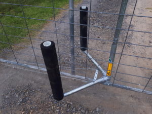 Bump Gate arms fitted to gate